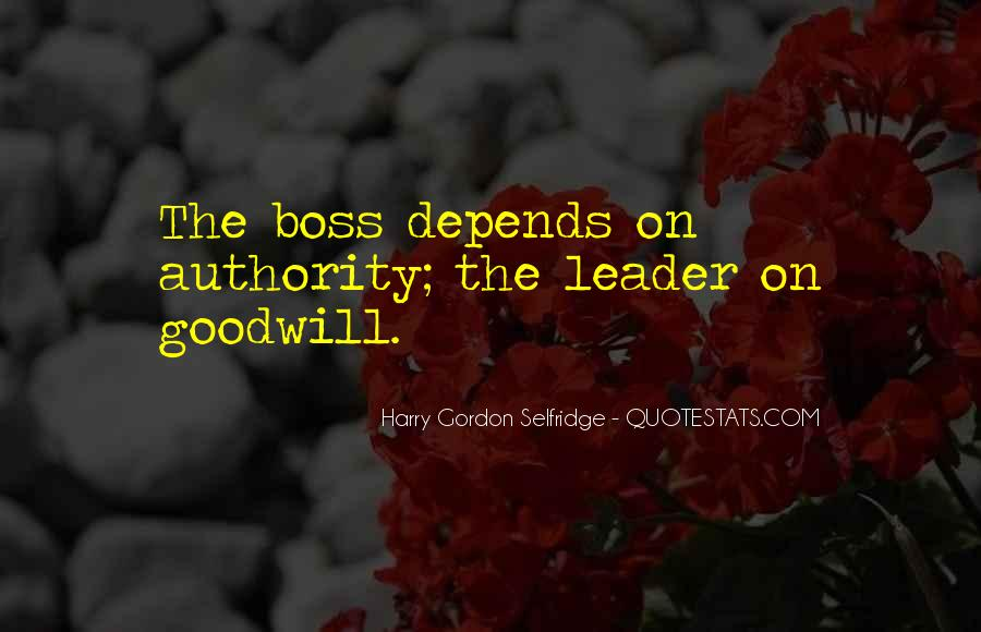 Quotes About Leader Vs Boss #1607424