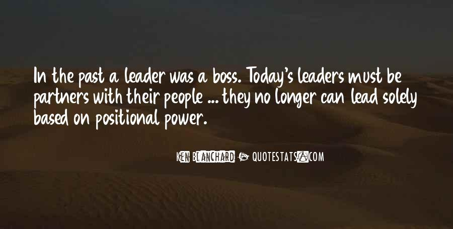 Quotes About Leader Vs Boss #666531