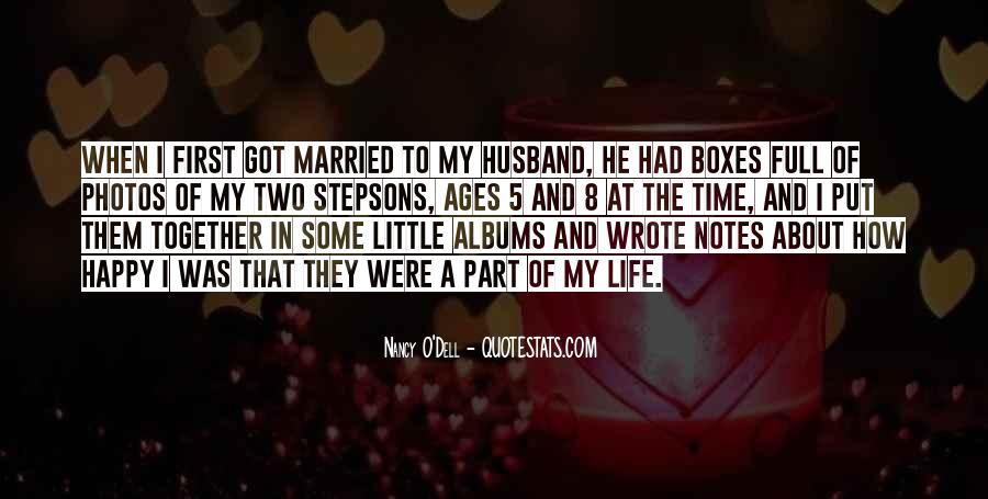 Quotes About Happy Married Life #58648