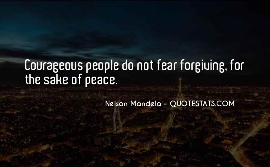 Quotes About Fear Nelson Mandela #1315086