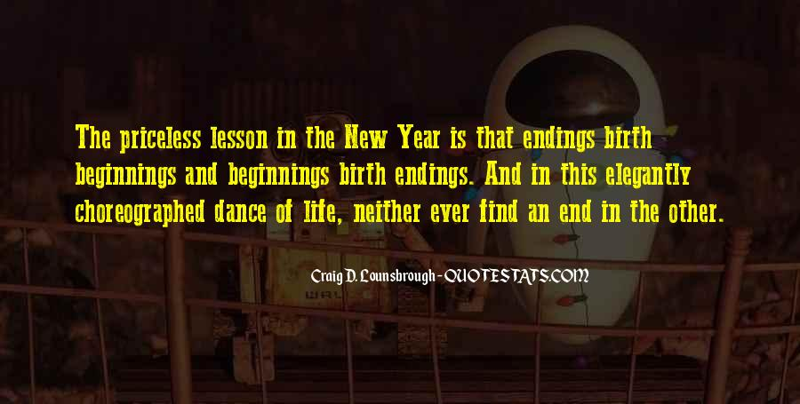 Quotes About Endings And New Beginnings #1064376