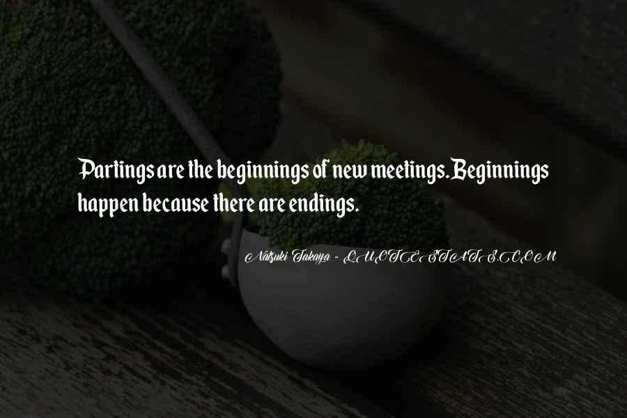 Quotes About Endings And New Beginnings #115947
