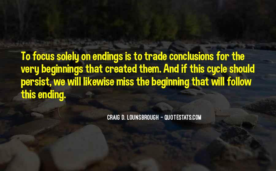 Quotes About Endings And New Beginnings #1728108