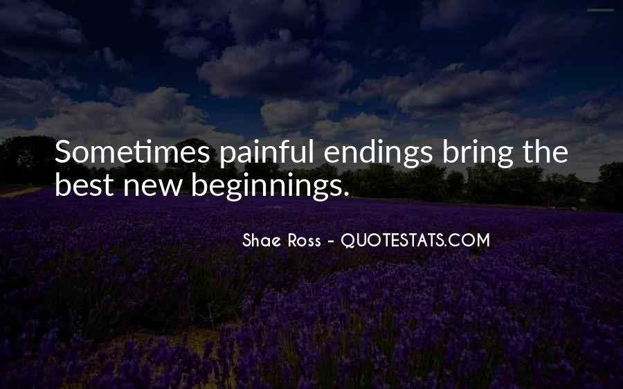 Quotes About Endings And New Beginnings #394083