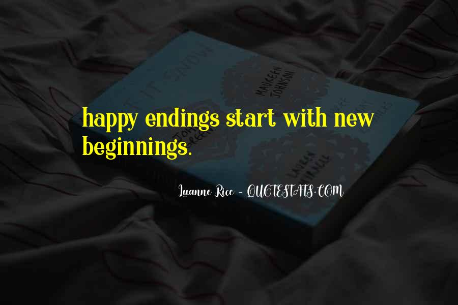 Quotes About Endings And New Beginnings #680990