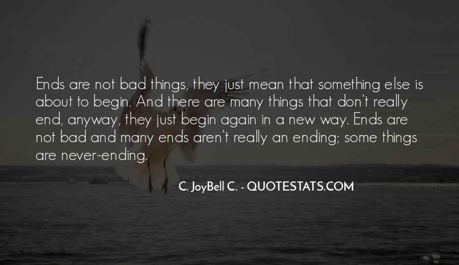 Quotes About Endings And New Beginnings #779129