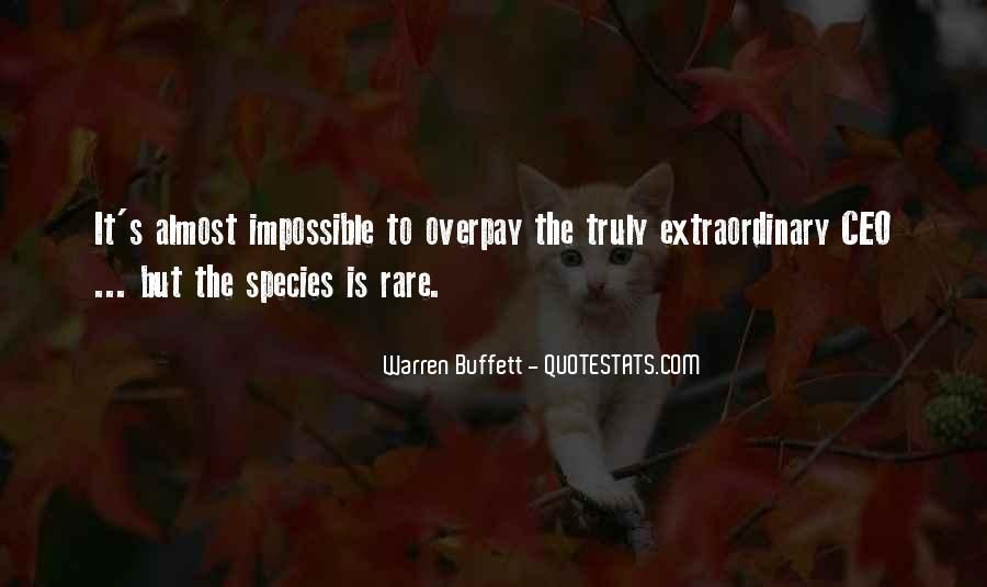 Quotes About Rare Species #1724786