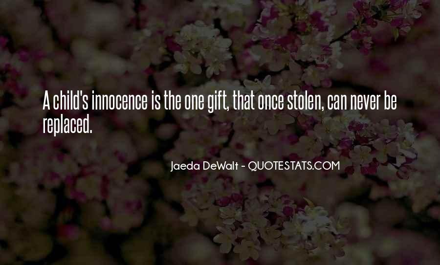 Quotes About Stolen Innocence #957147