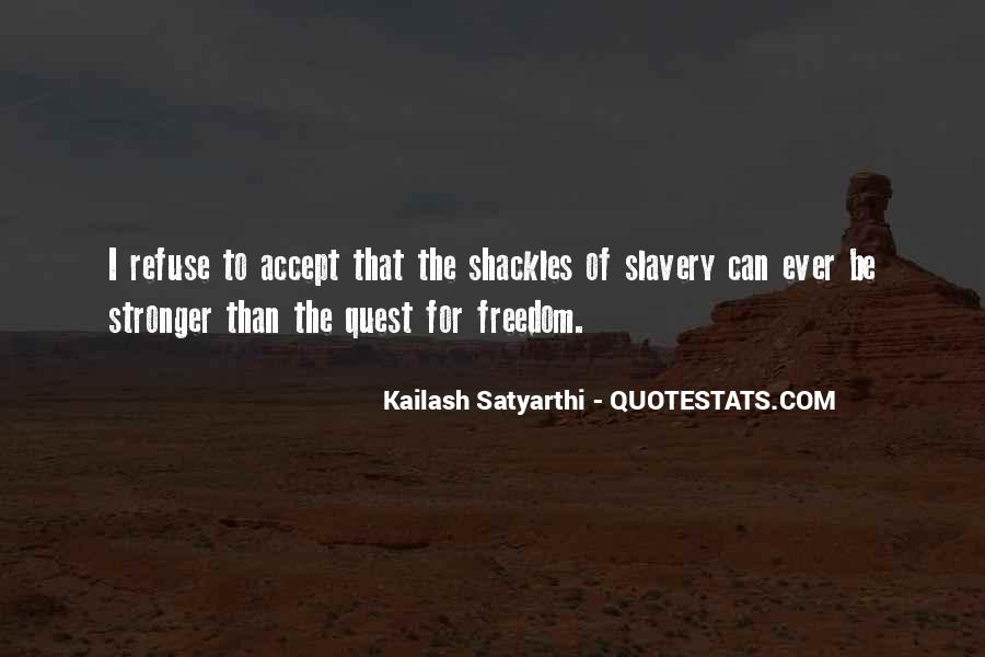 Quotes About Shackles #245070