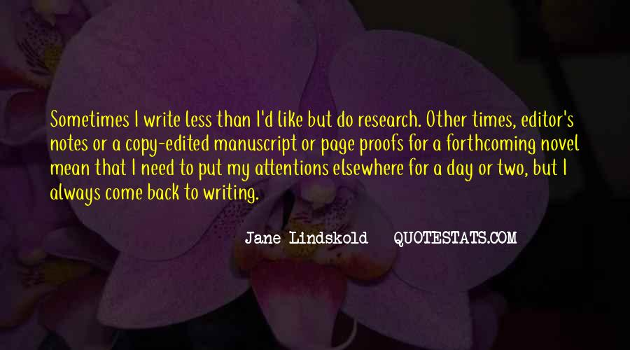 Quotes About Writing Notes #105150