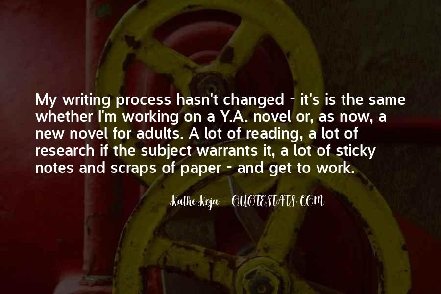 Quotes About Writing Notes #117947