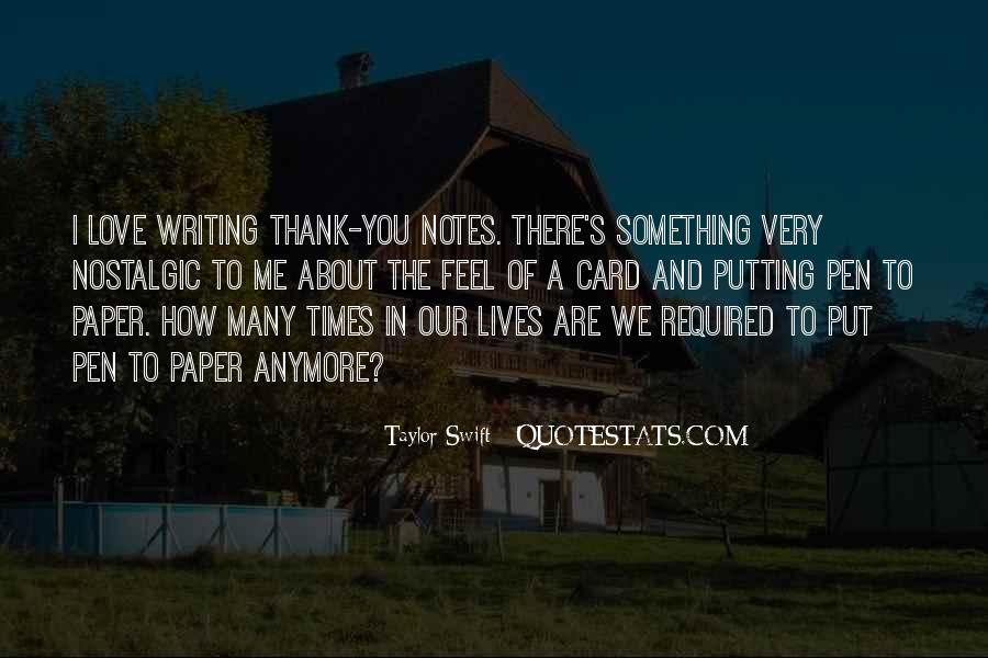 Quotes About Writing Notes #1807657