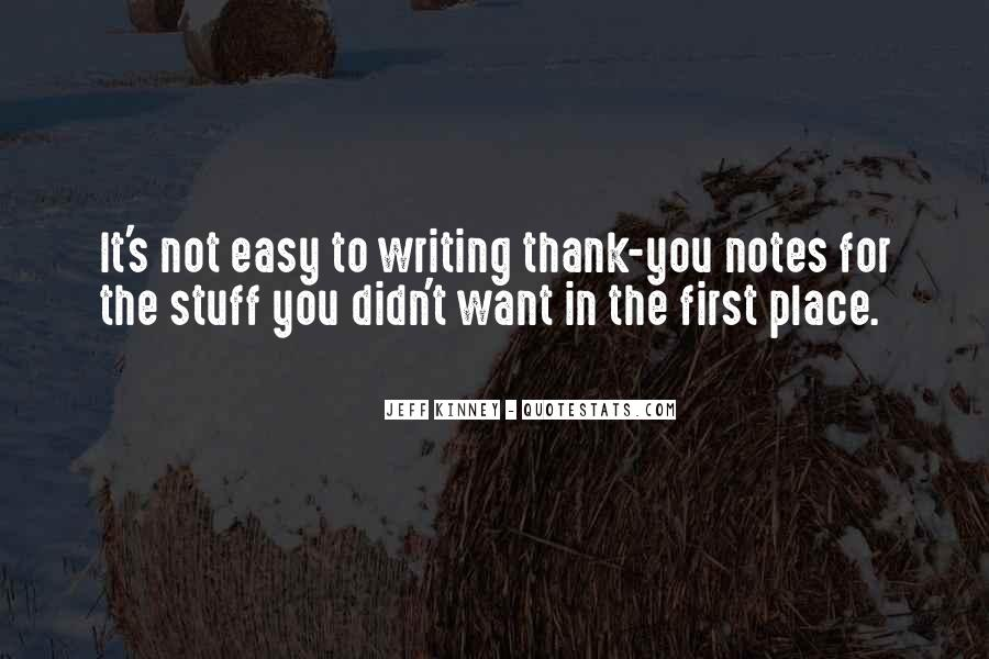 Quotes About Writing Notes #390815