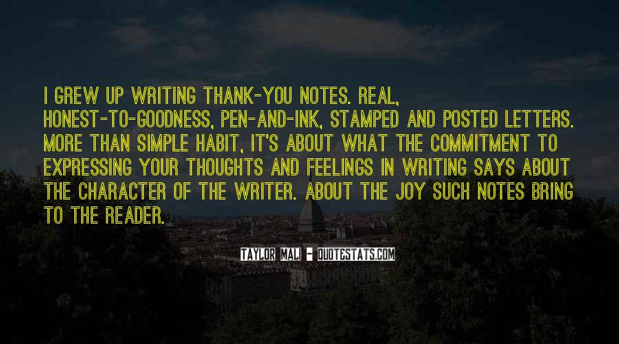Quotes About Writing Notes #43338