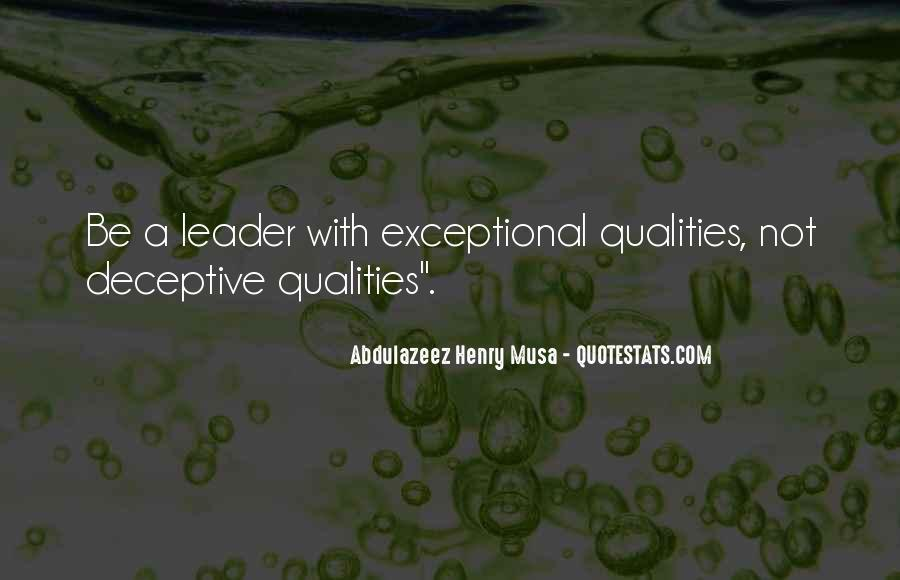 Quotes About Qualities Of A Leader #1331644