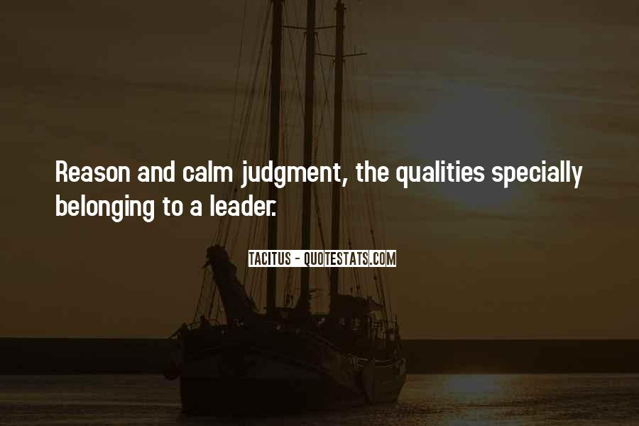 Quotes About Qualities Of A Leader #319264