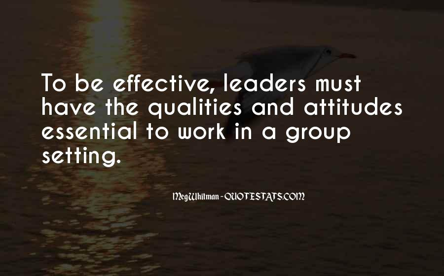 Quotes About Qualities Of A Leader #804950