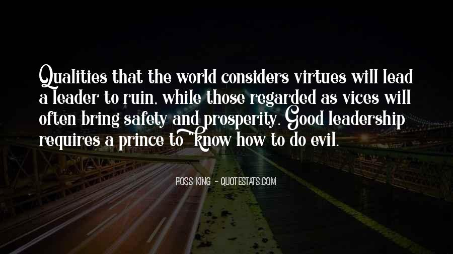 Quotes About Qualities Of A Leader #961160