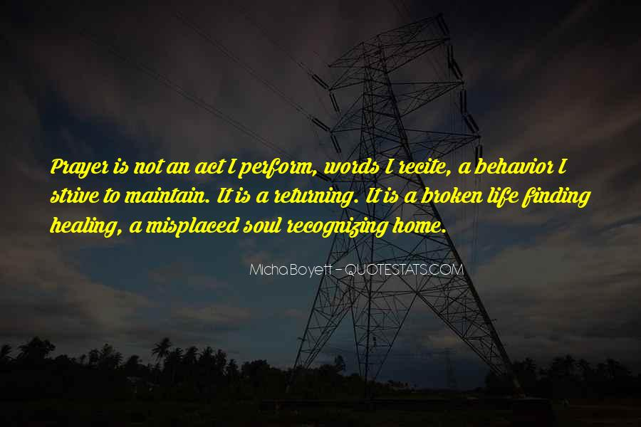 Quotes About A Broken Home #932056