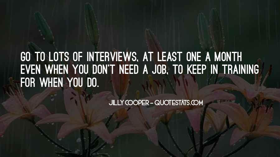 Quotes About Job Interviews #156272