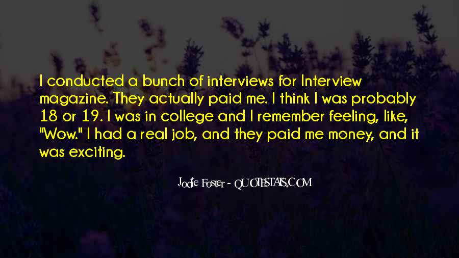 Quotes About Job Interviews #697785