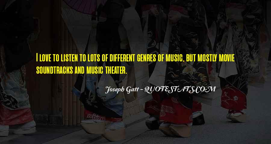 Quotes About Movie Soundtracks #959182