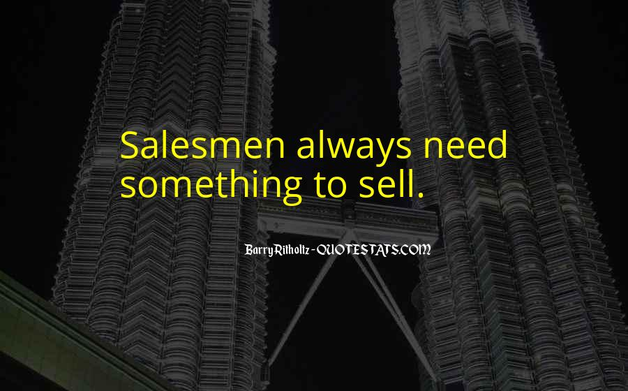 Quotes About Salesmen #1335918