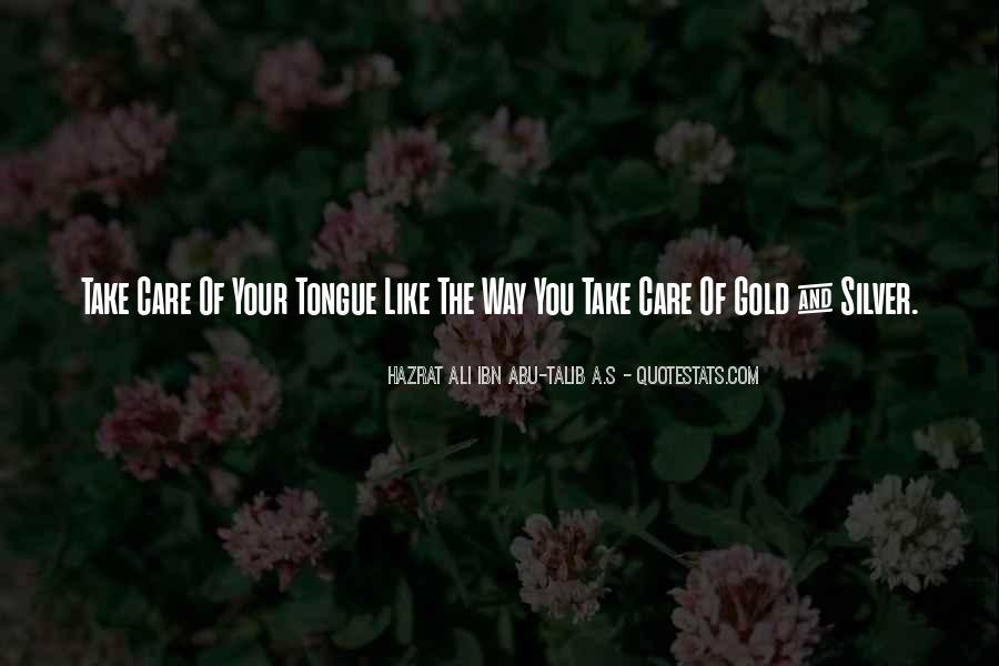 Quotes About Silver Tongue #1287829