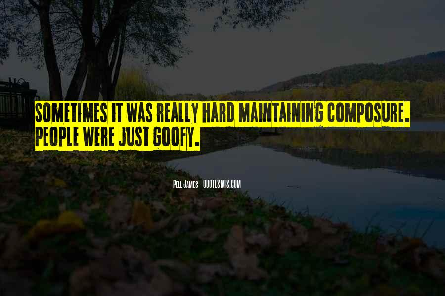Quotes About Maintaining Your Composure #789923