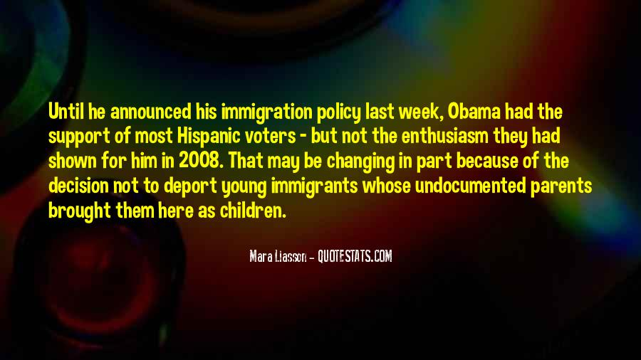 Quotes About Immigration Obama #622064