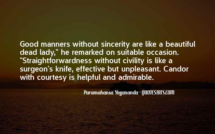Quotes About Courtesy Manners #1342359