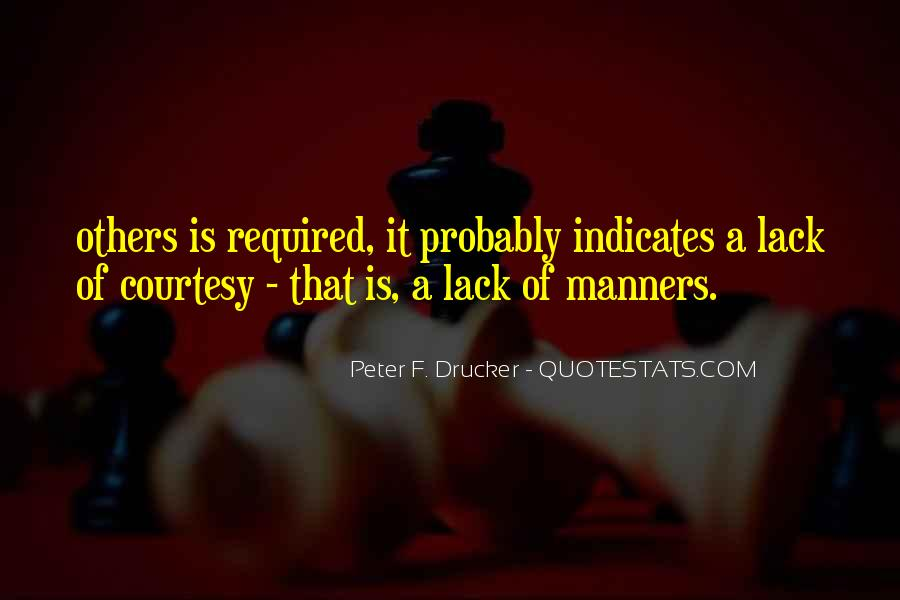Quotes About Courtesy Manners #1481178