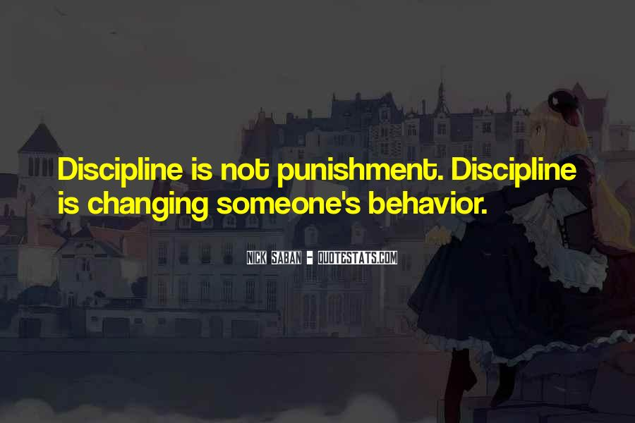 Quotes About Discipline And Punishment #1847375