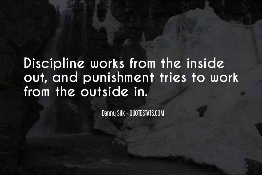 Quotes About Discipline And Punishment #315308