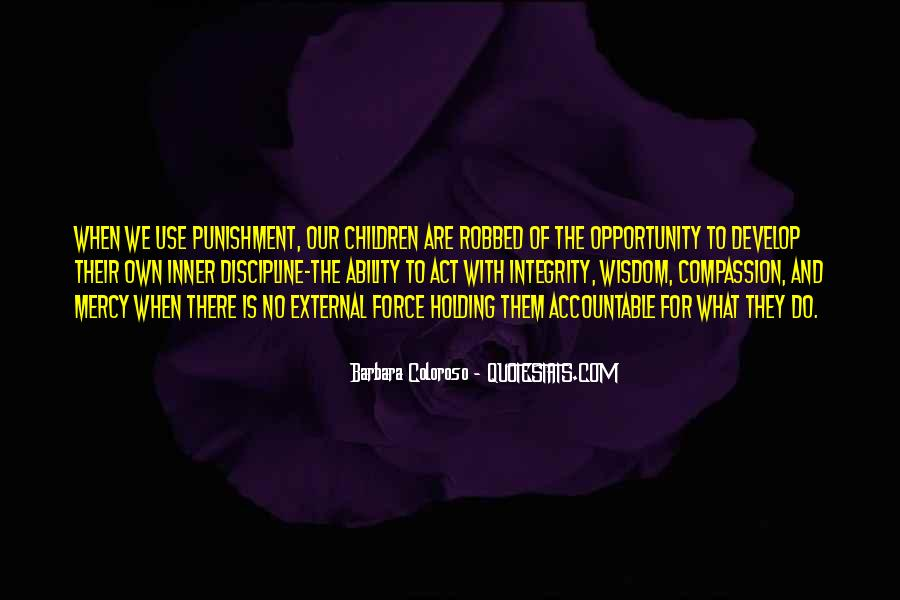 Quotes About Discipline And Punishment #356233