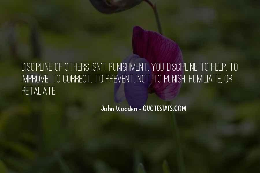 Quotes About Discipline And Punishment #537198