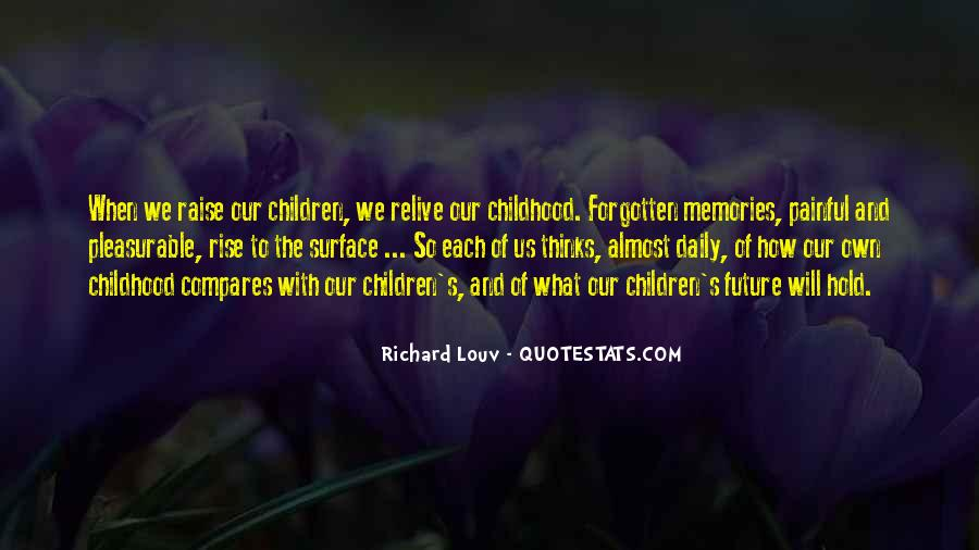 Quotes About Forgotten Childhood #1852965