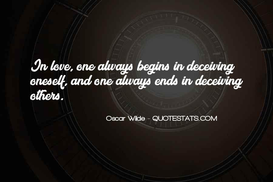 Quotes About Deceiving The One You Love #1796206