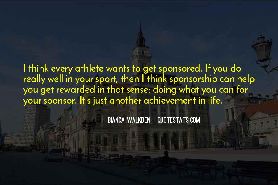 Quotes About Sponsorship #1315072
