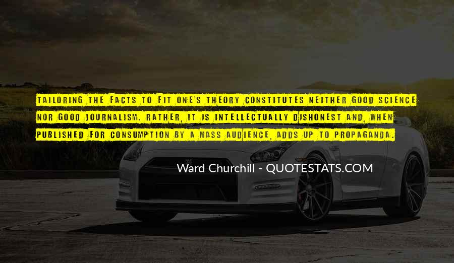 Quotes About Mass Consumption #1502508