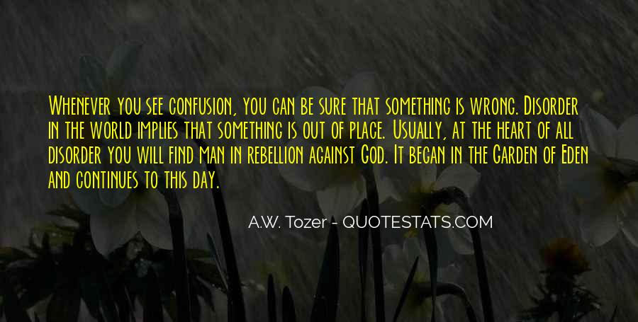 Quotes About Confusion And God #31744