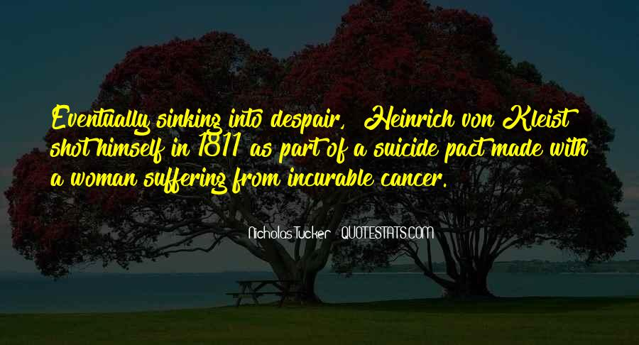 Quotes About Suffering From Cancer #1658549
