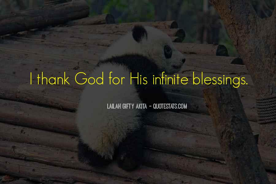 Quotes About God Blessing You #857915