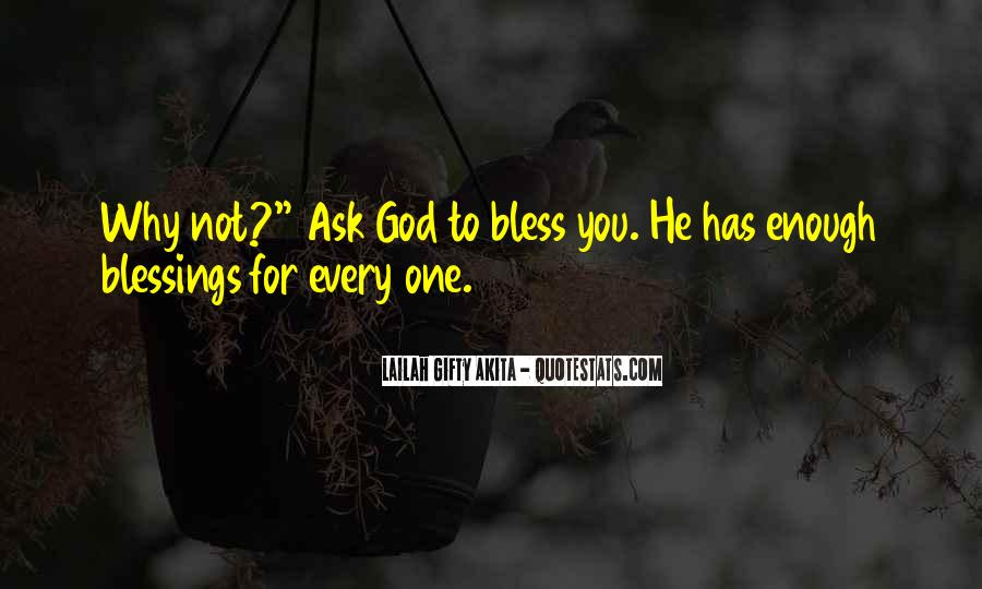 Quotes About God Blessing You #877971