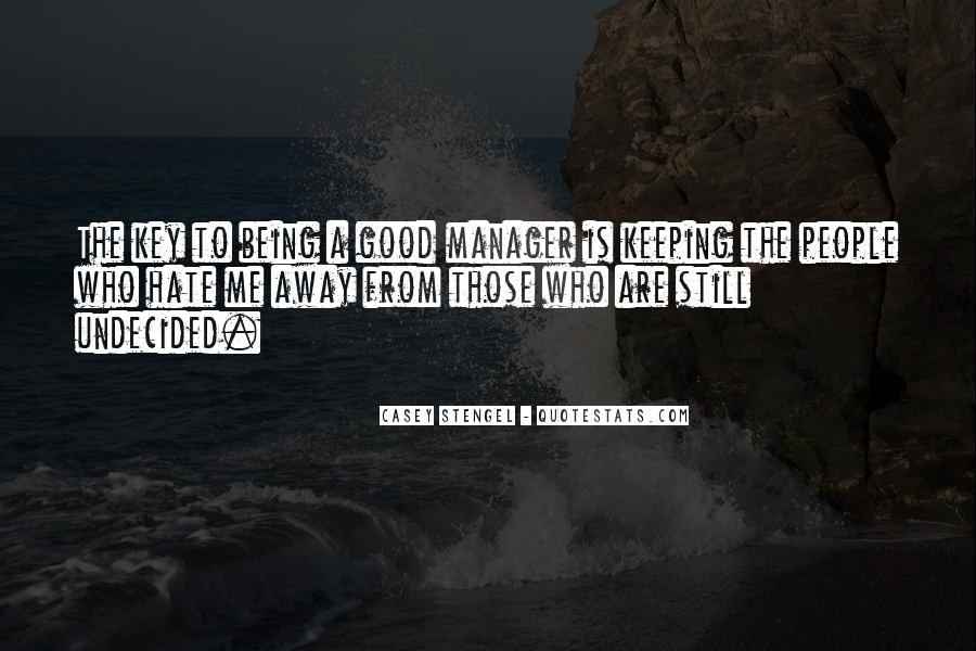 Quotes About Being A Manager #1780480