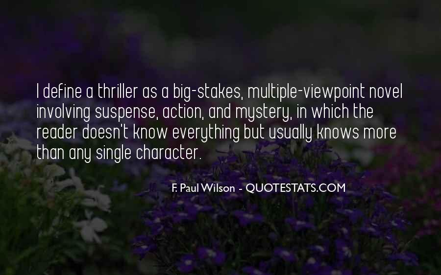 Quotes About Mystery And Suspense #759499