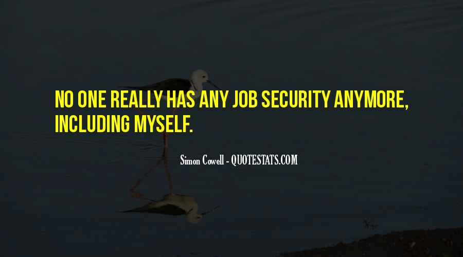 Quotes About Security Job #616127