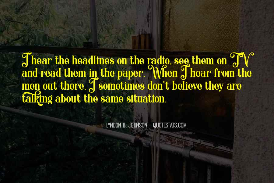 Quotes About Tv And Radio #829103