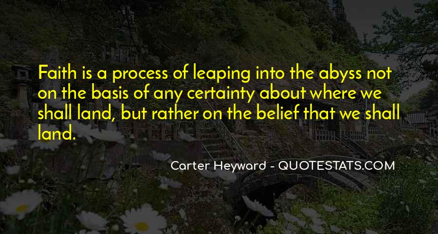 Quotes About Leaping Of Faith #1425119