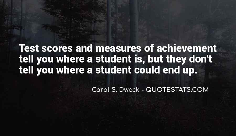 Quotes About Achievement Tests #1497644
